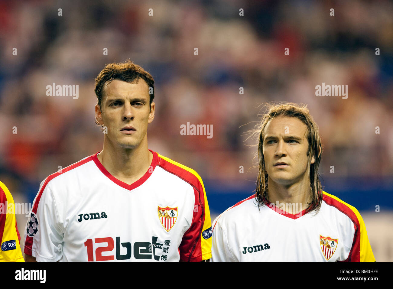 Squillaci (left) and Diego Capel (right). - Stock Image