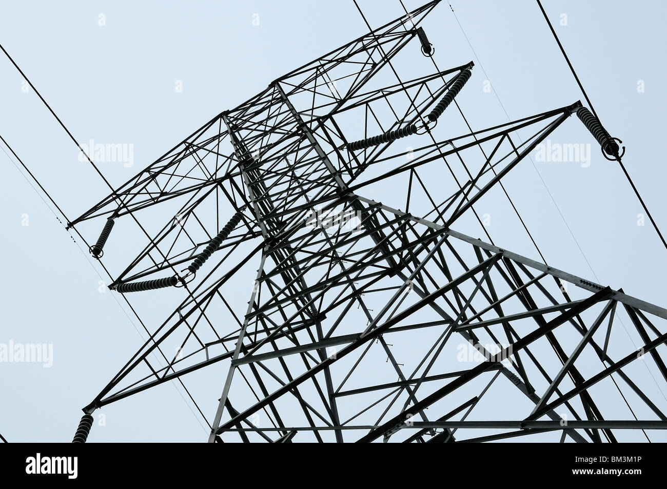 High Voltage Power Tower - Stock Image