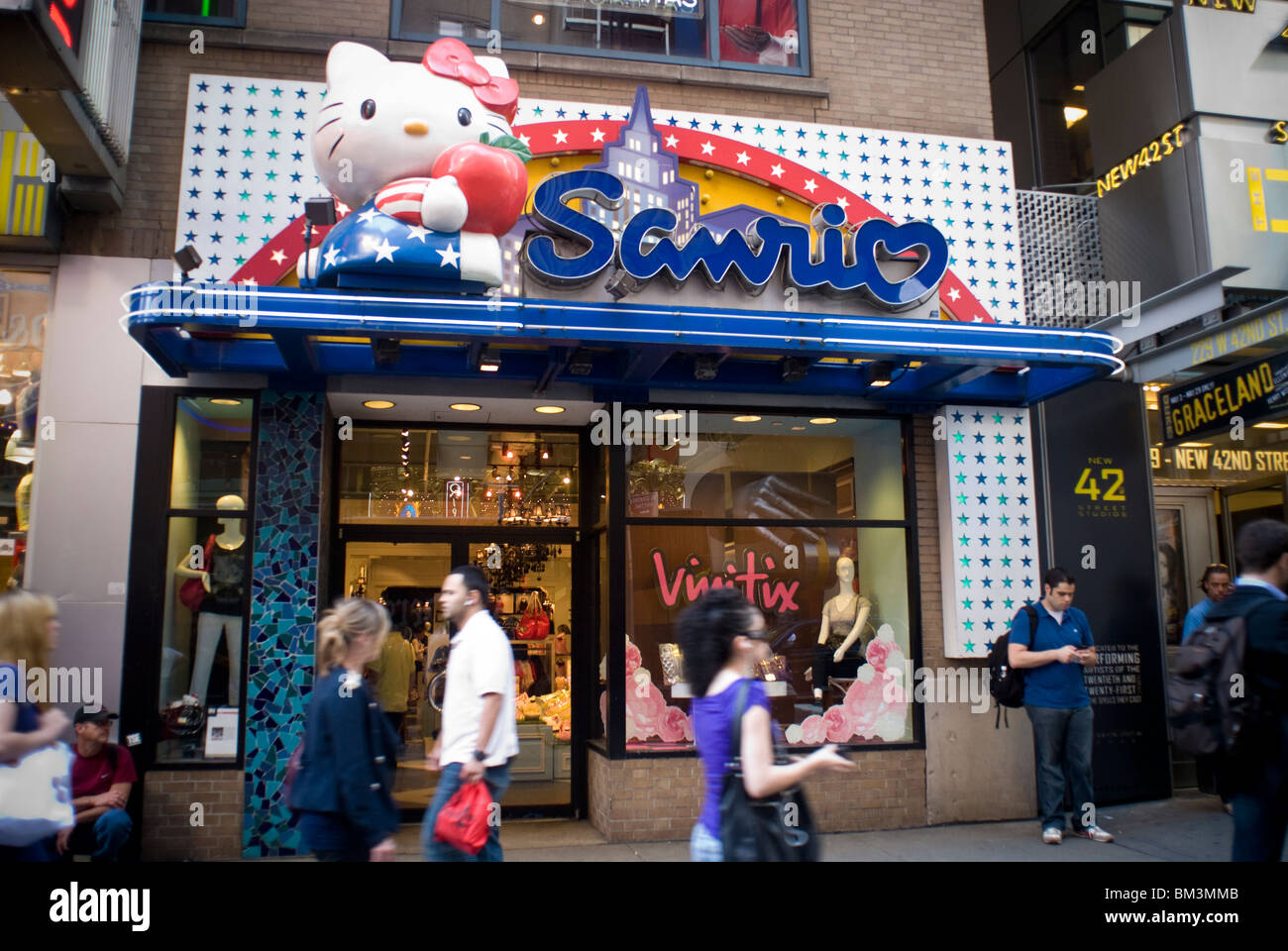 9d6160d00 Hello Kitty brand merchandise at the Sanrio store in Times Square in New  York