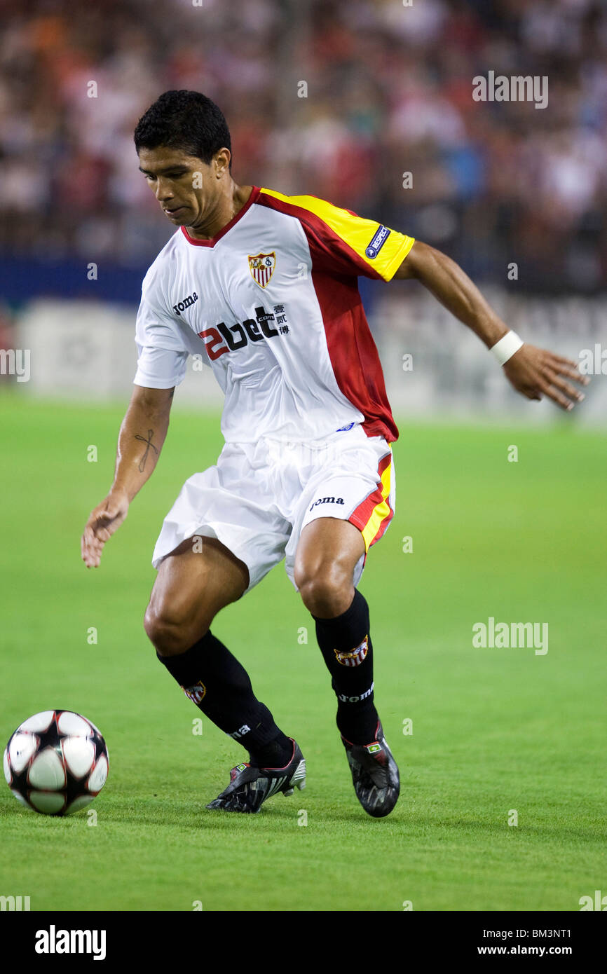 Renato with the ball. - Stock Image