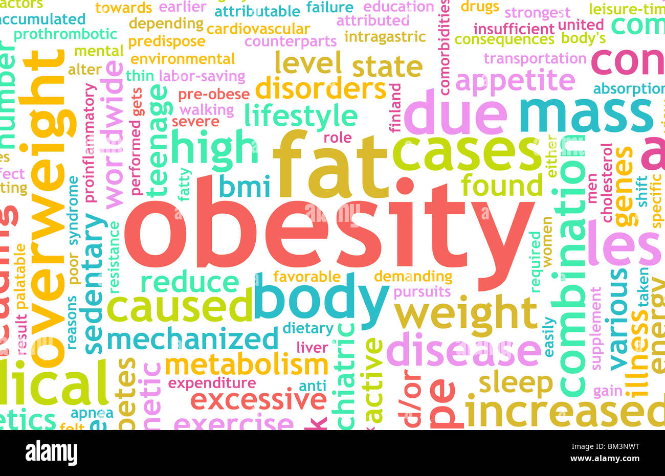 Obesity Concept Of Being Overweight And Unhealthy Stock Photo Alamy