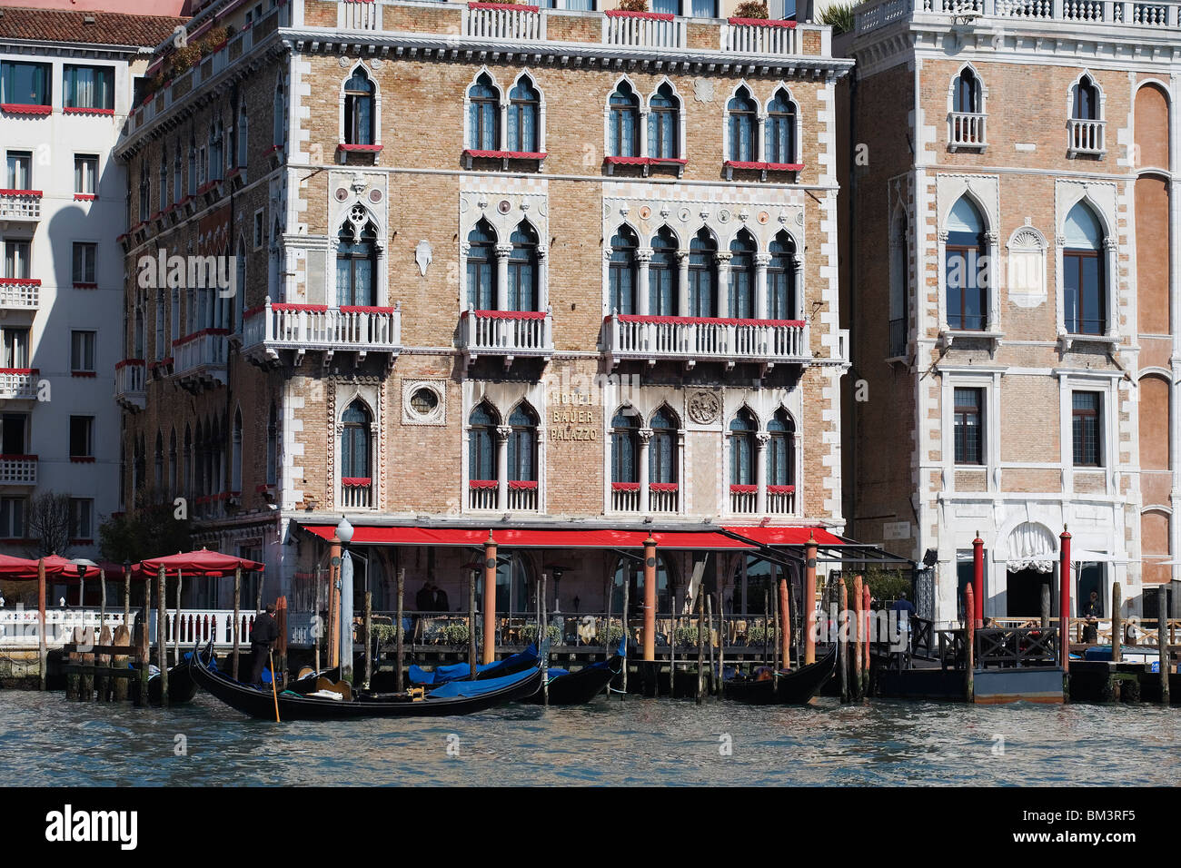 Venice - Hotel Bauer Palazzo - View from the Grand Canal - Stock Image
