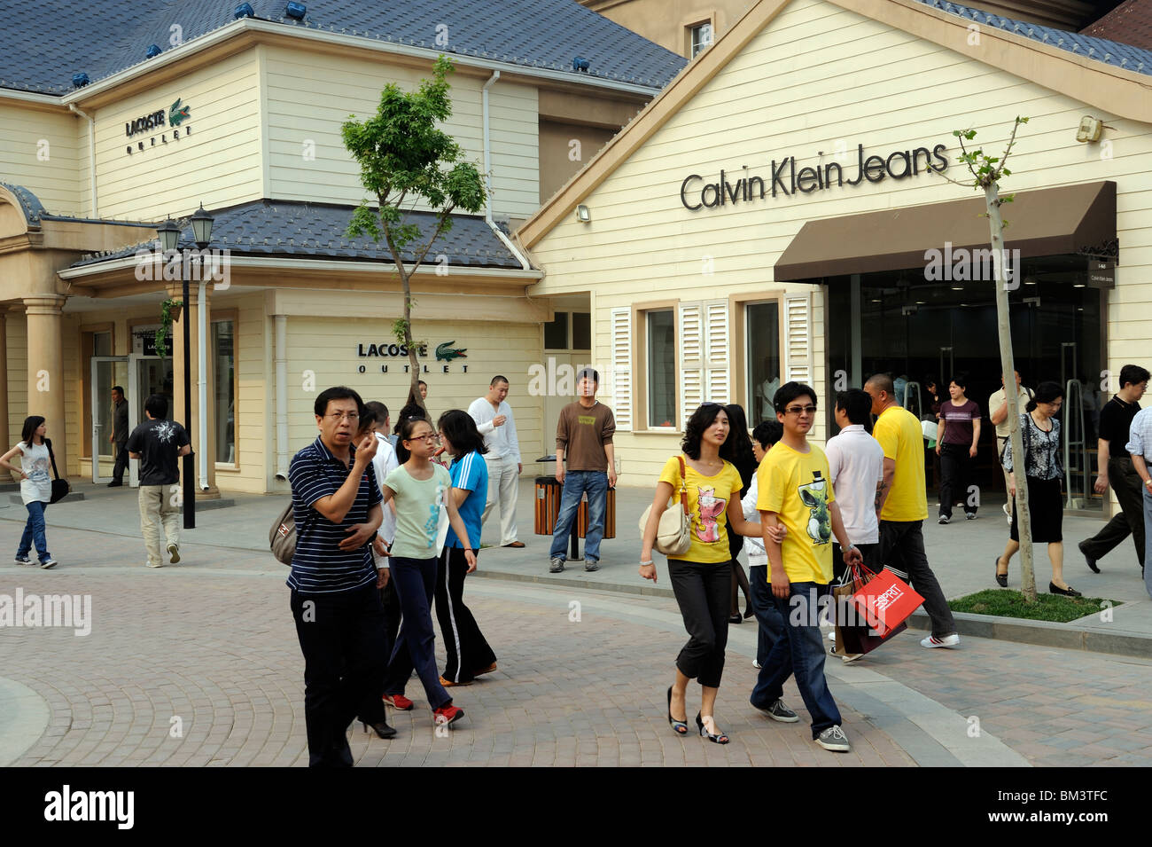 8adbc3d2e Chinese consumers at Beijing Scitech Premium Outlet Mall in Beijing ...