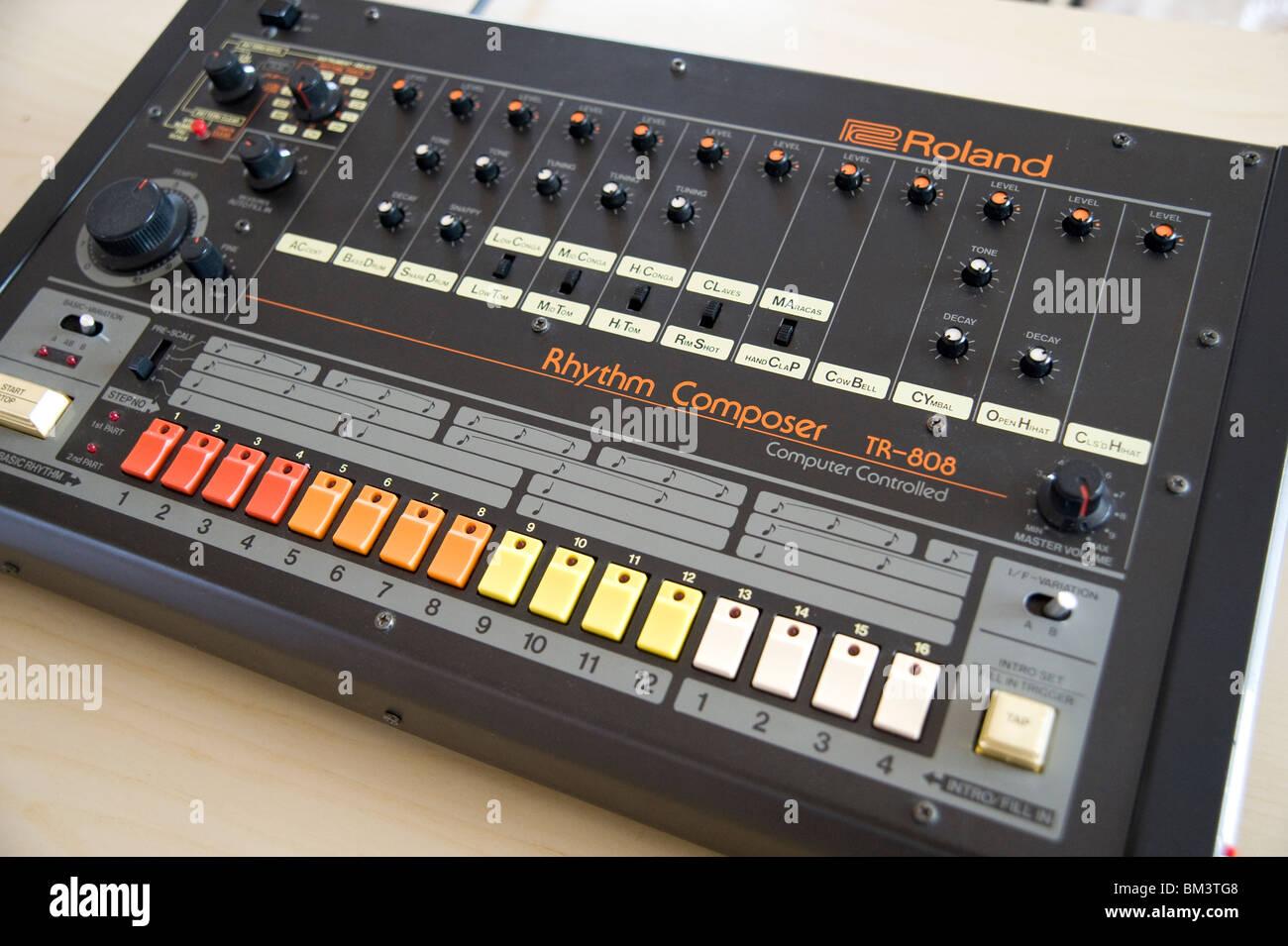 The Roland TR 808 analogue drum machine - Stock Image