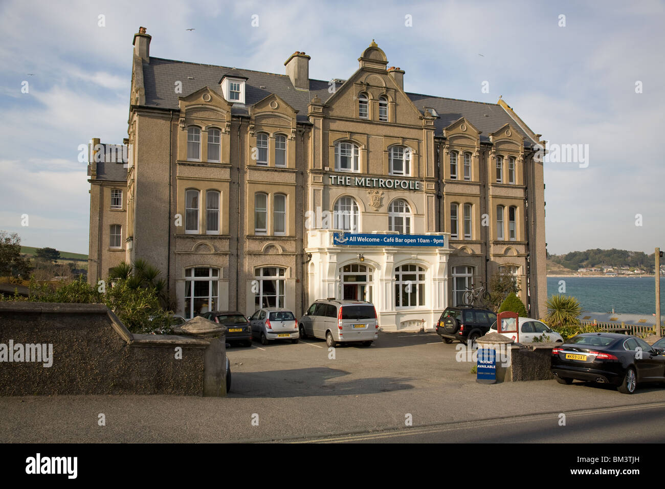 The Metropole Hotel in Padstow,Cornwall,England - Stock Image