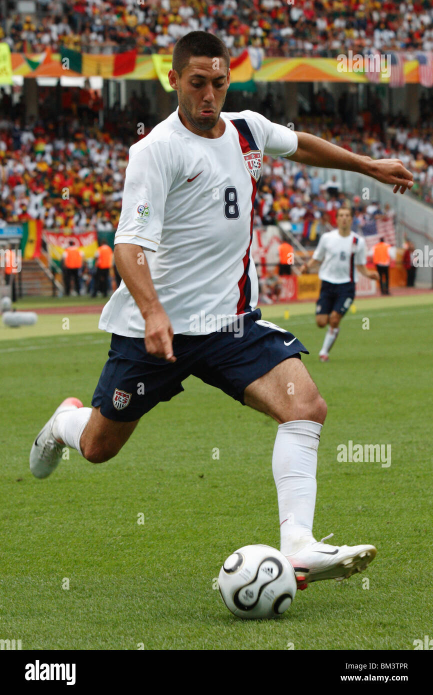 Clint Dempsey of the United States sets to cross the ball during a 2006 FIFA World Cup football match against Ghana. - Stock Image