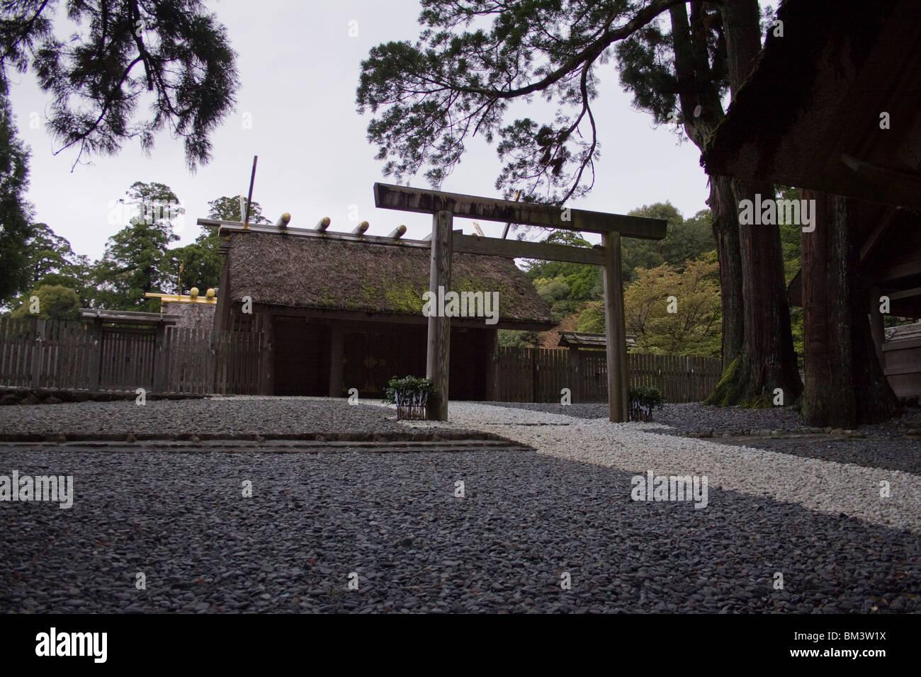 Ise Grand Shinto Shrine, Ise, Japan. - Stock Image