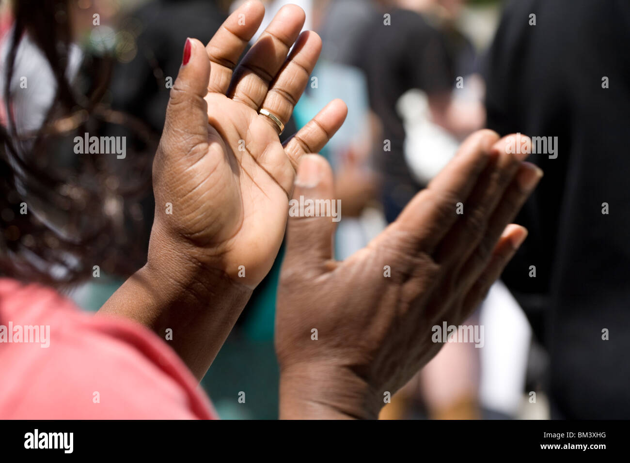 Hands Clapping Stock Photo