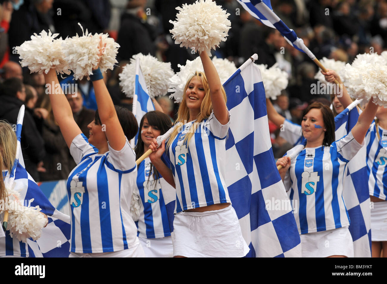 Brighton football club cheerleaders knowns as Gullys Girls - Stock Image