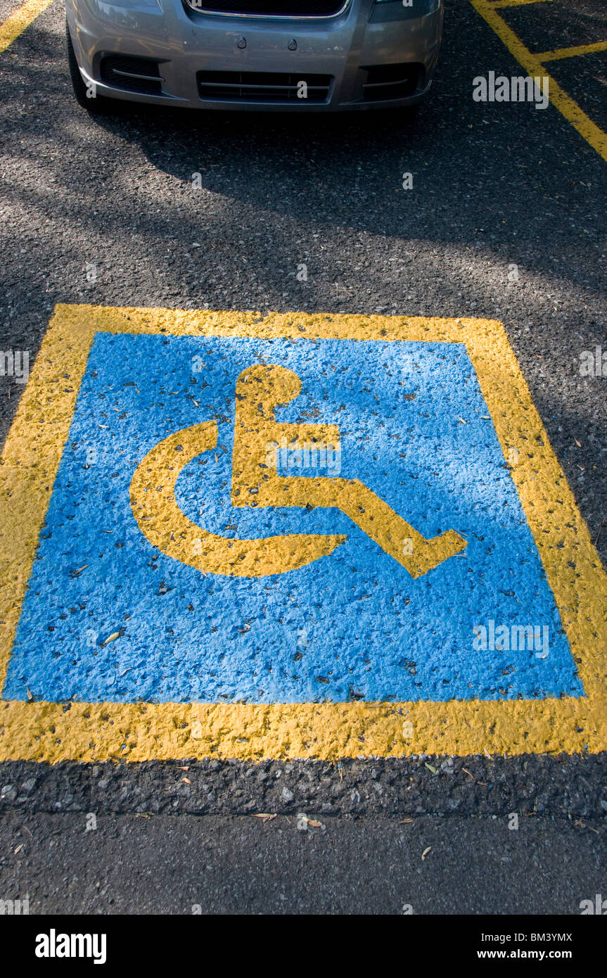 Handicapped parking - Stock Image