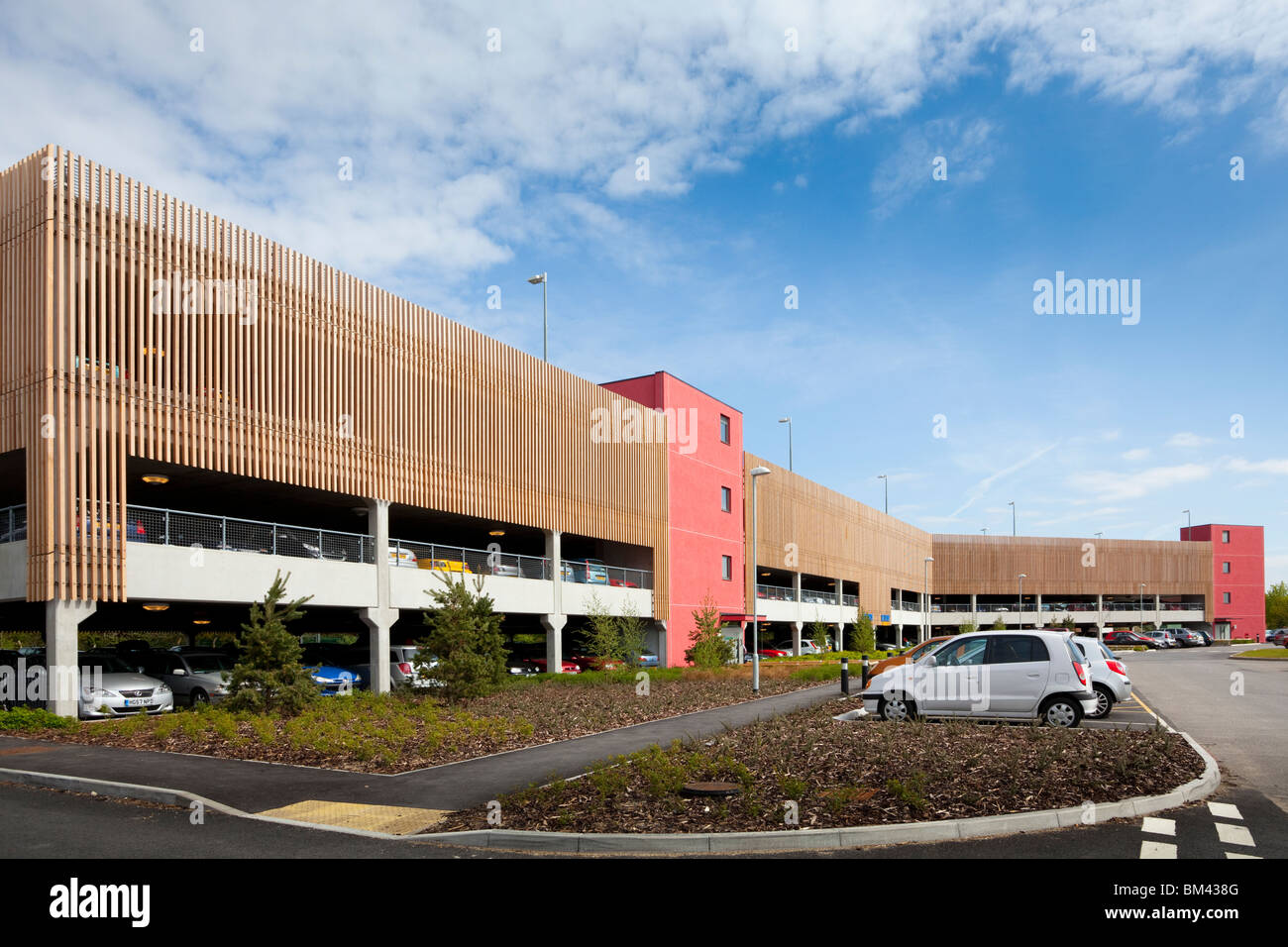 four storey Multi-Storey Car Park Stock Photo