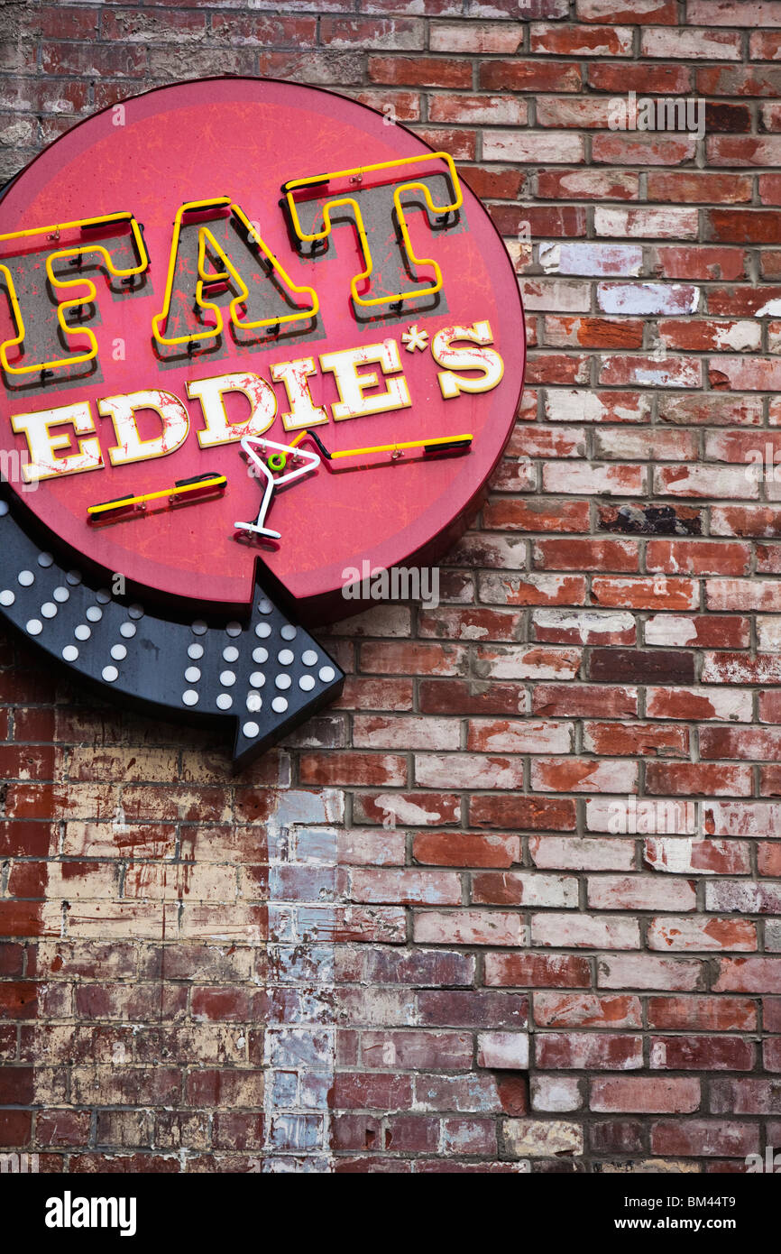 Fat Eddie's jazz bar on Sol Square. Christchurch, Canterbury, South Island, New Zealand - Stock Image