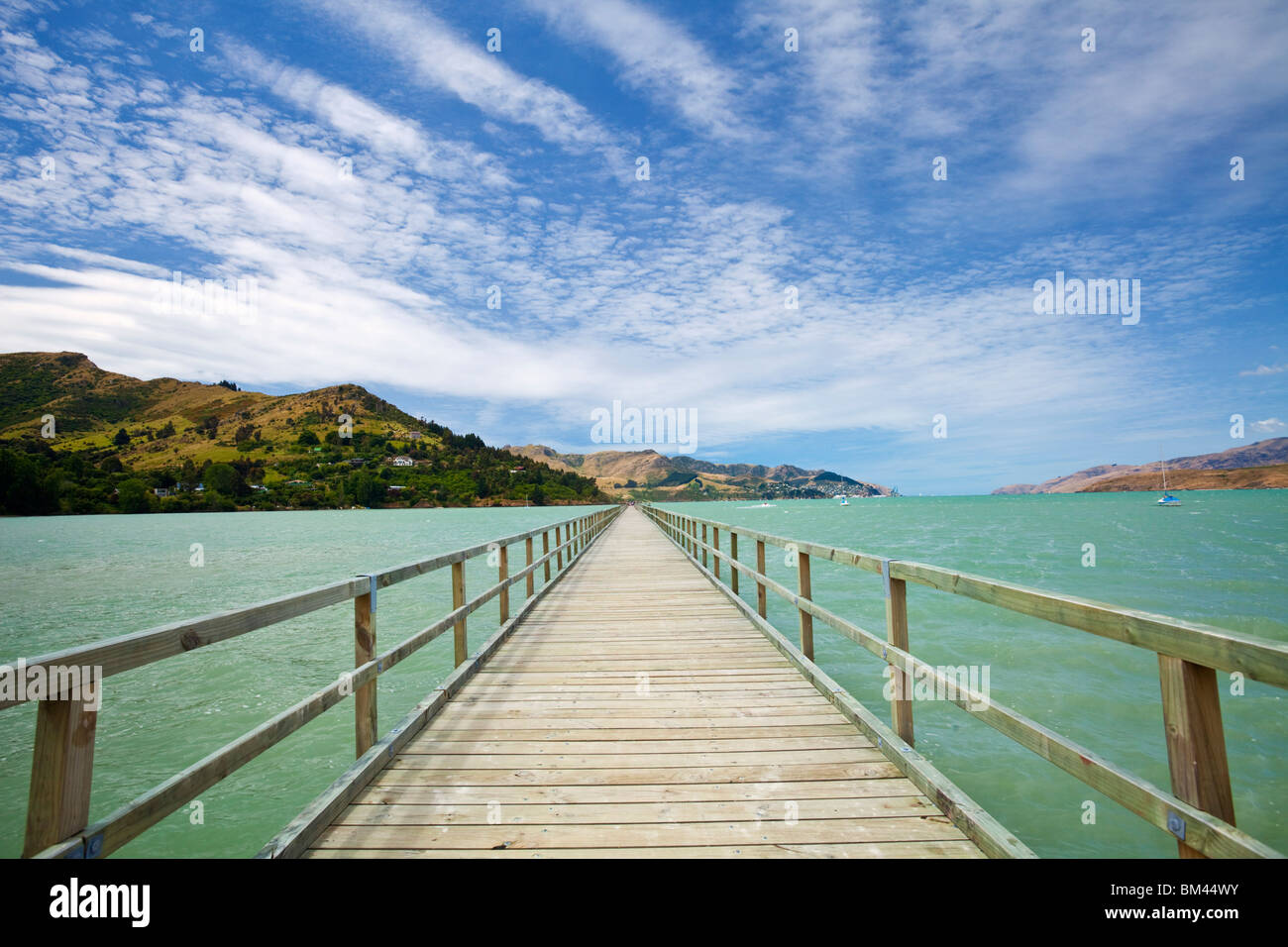 Jetty at Governor's Bay. Christchurch, Canterbury, South Island, New Zealand - Stock Image