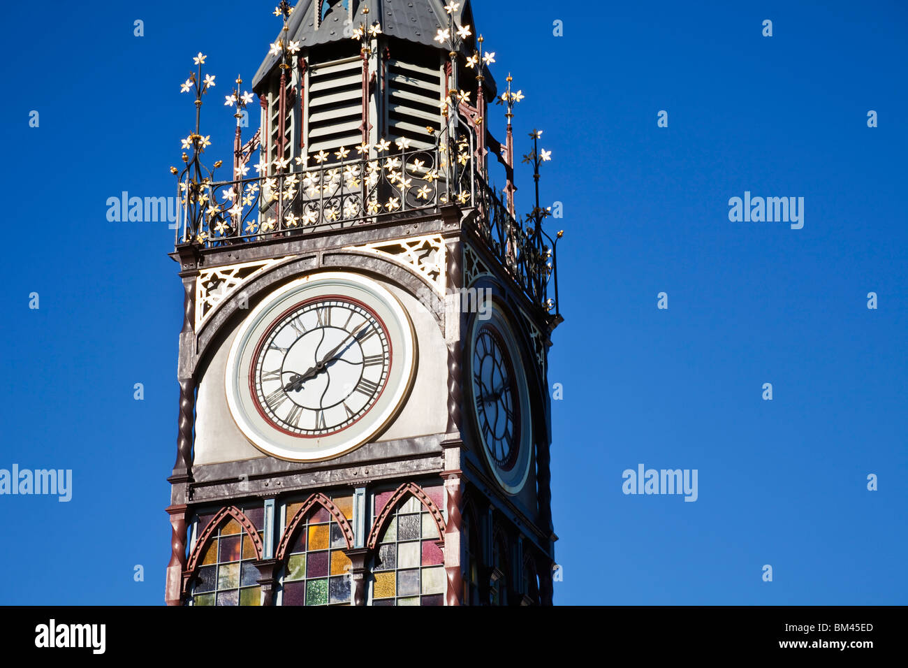 Queen Victoria Jubilee Clock Tower. Christchurch, Canterbury, South Island, New Zealand - Stock Image
