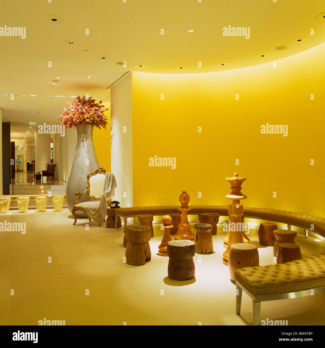 Hotel Entrance Foyer : Seating area and entrance foyer designed by philippe starck st