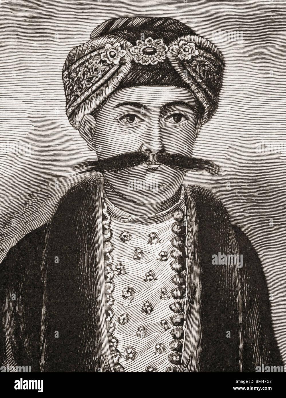 Mîrza Muhammad Siraj-ud-Daulah aka Siraj ud-Daulah,1733 to 1757. Nawab of Bengal, Bihar and Orissa. - Stock Image