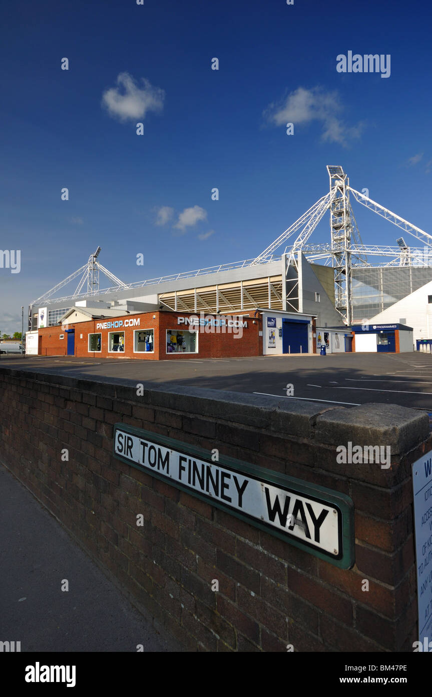 Preston North End Deepdale Stadium Preston Lancashire - Stock Image