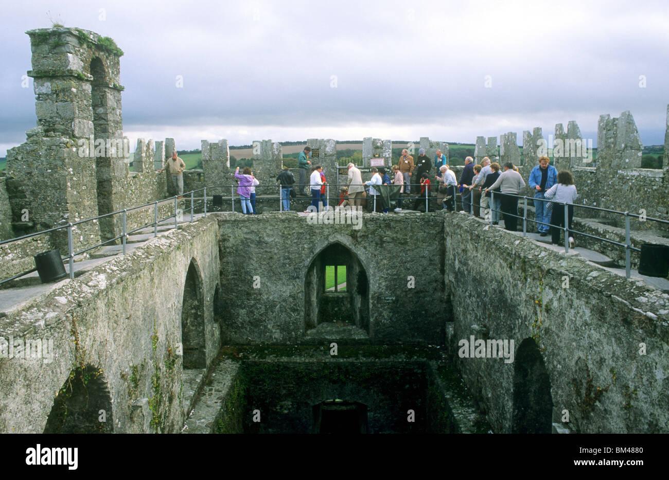 blarney castle county cork tourists waiting to kiss blarney stone ireland eire irish castles