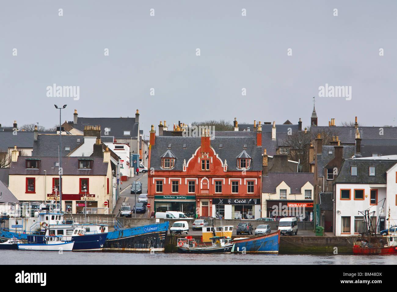 Stornoway Harbour. - Stock Image