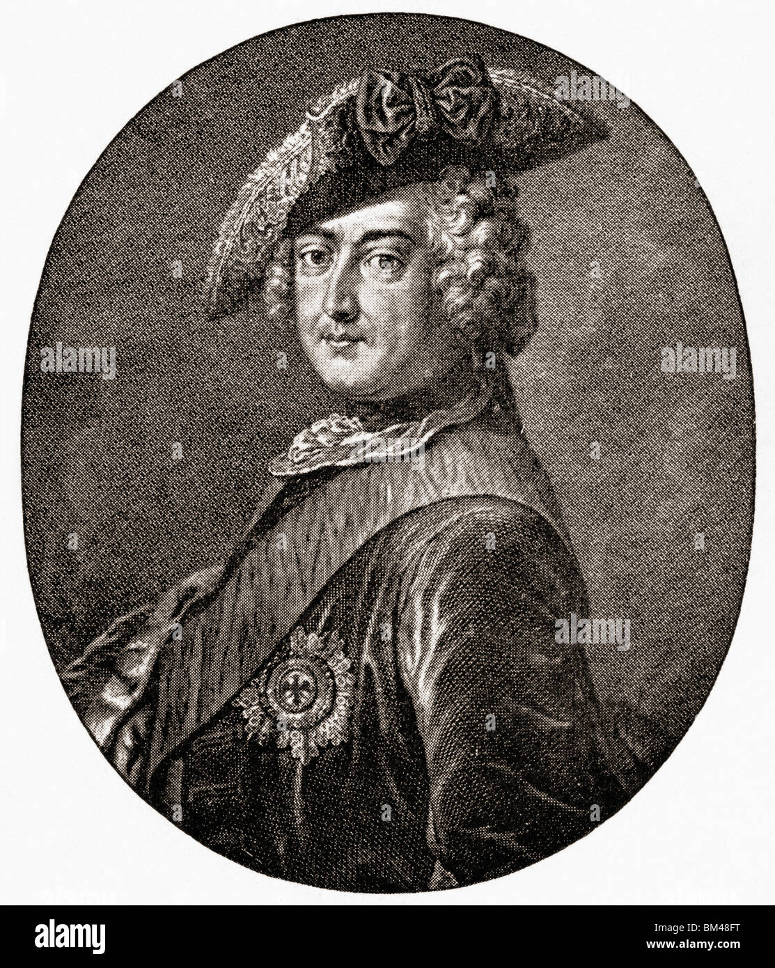 Frederick II, 1712 to 1786. King of Prussia, and, as prince-elector of the Holy Roman Empire, Frederick IV of Brandenburg. - Stock Image