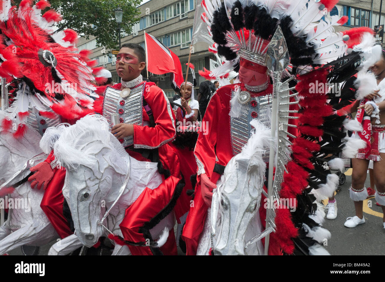Young Black Men In Native American Indian Costumes With Horse Stock Photo Alamy