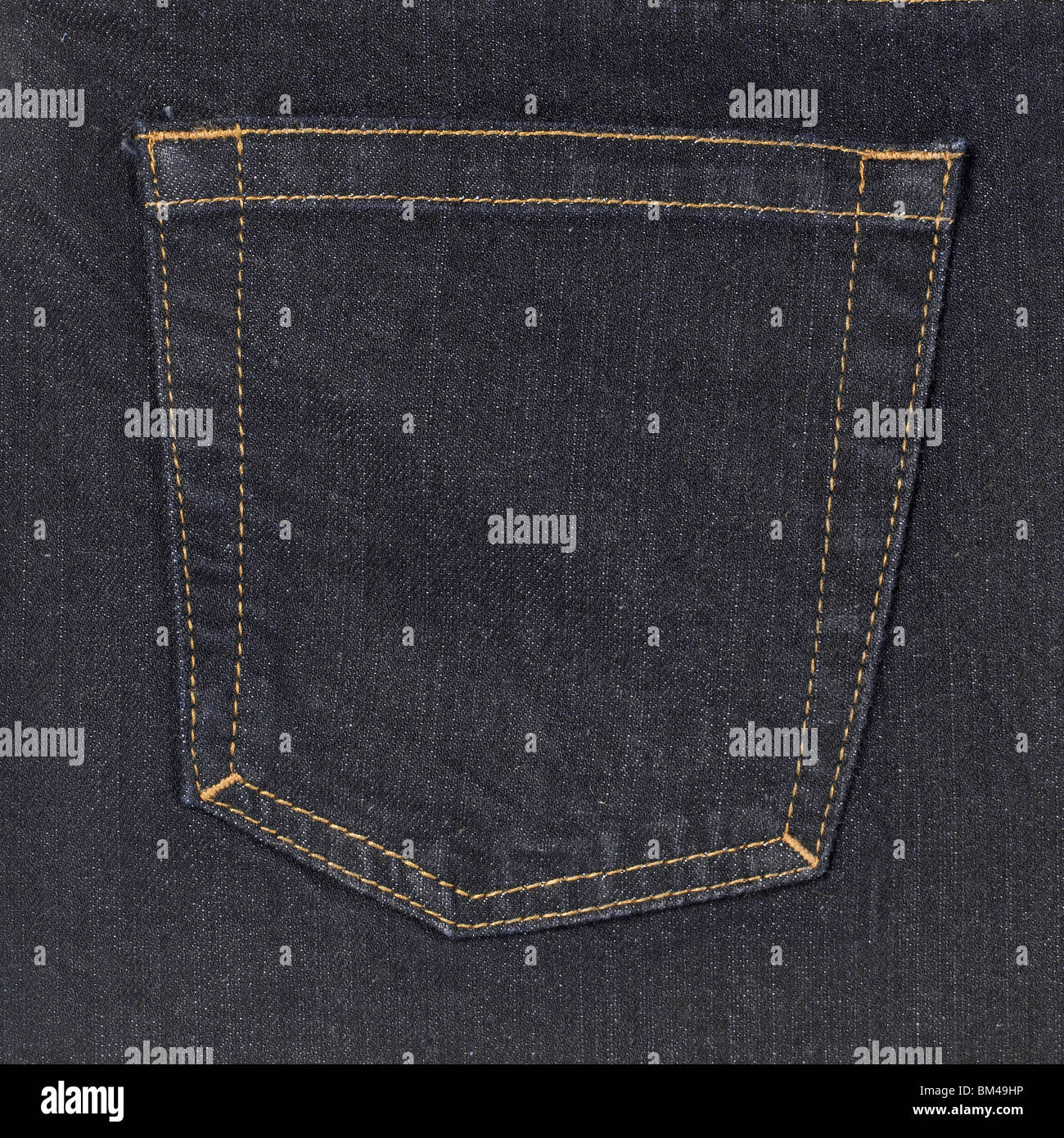 Blue jeans denim pocket - Stock Image