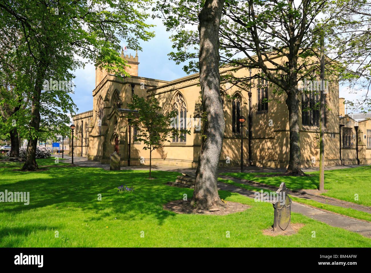 Dewsbury Minster, All Saints Church, Dewsbury, West Yorkshire, England, UK. - Stock Image