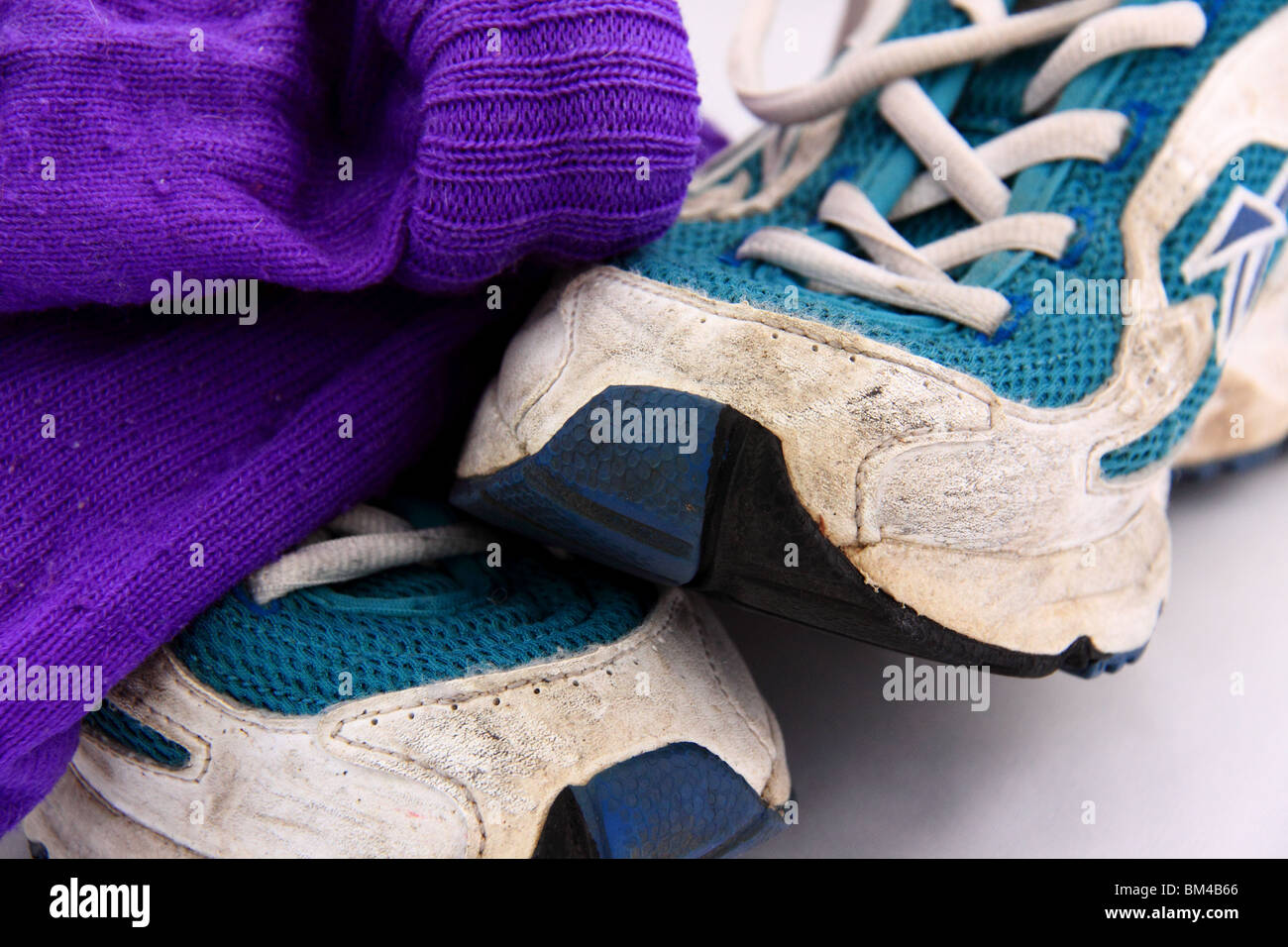 trainers and socks - Stock Image