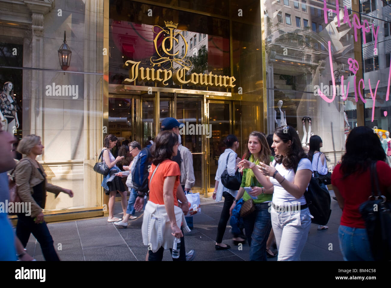 A Juicy Couture store in the midtown Manhattan neighborhood of New York - Stock Image