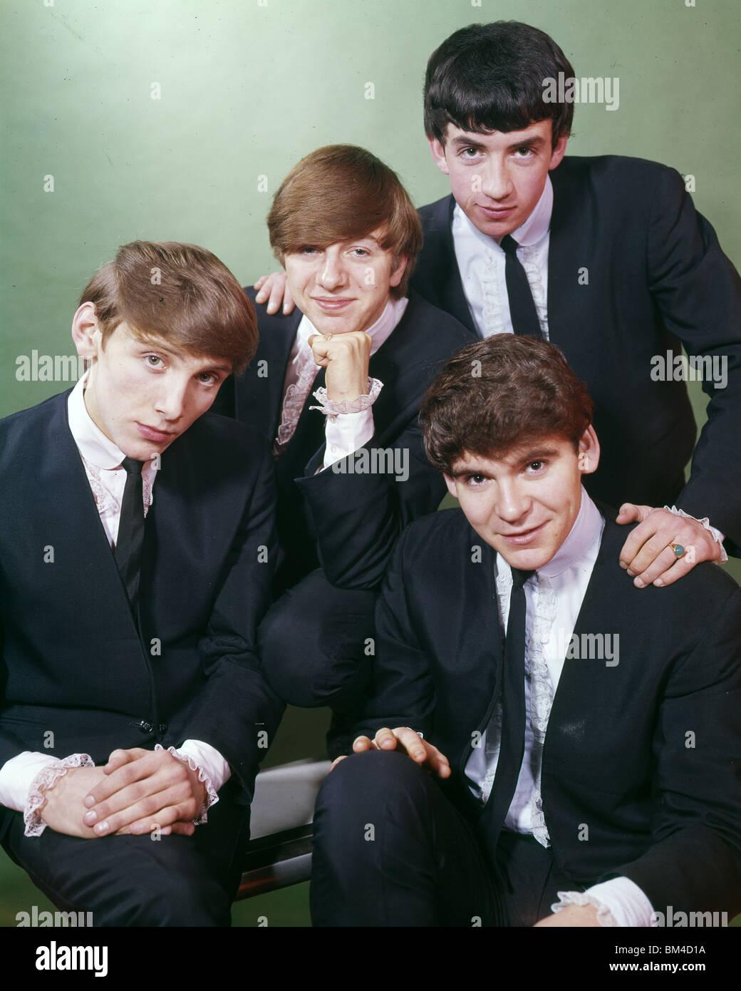 THE MERSEYBEATS - UK pop group in 1963 from left Billy Kinsley, John Banks, Aaron Williams and Tony Crane (top) - Stock Image