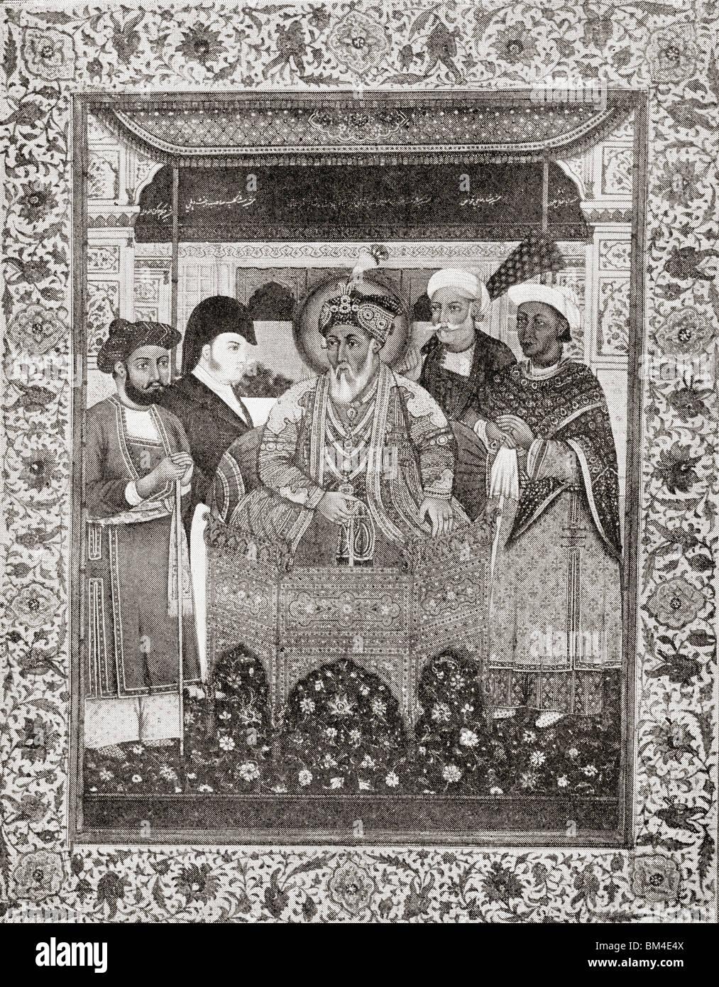 Akbar Shah II, aka Mirza Akbar 1760–1837, King of Delhi and Sir Thomas Theophilus Metcalfe, 4th Baronet, 1795 to - Stock Image