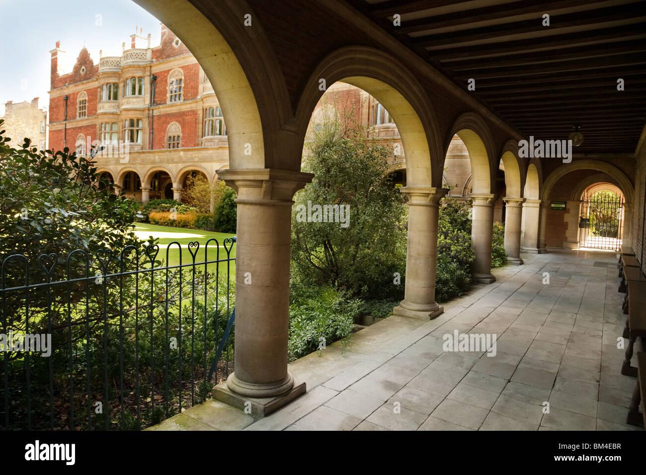 Cloister Court, Sidney Sussex college Cambridge University, Cambridge UK - Stock Image