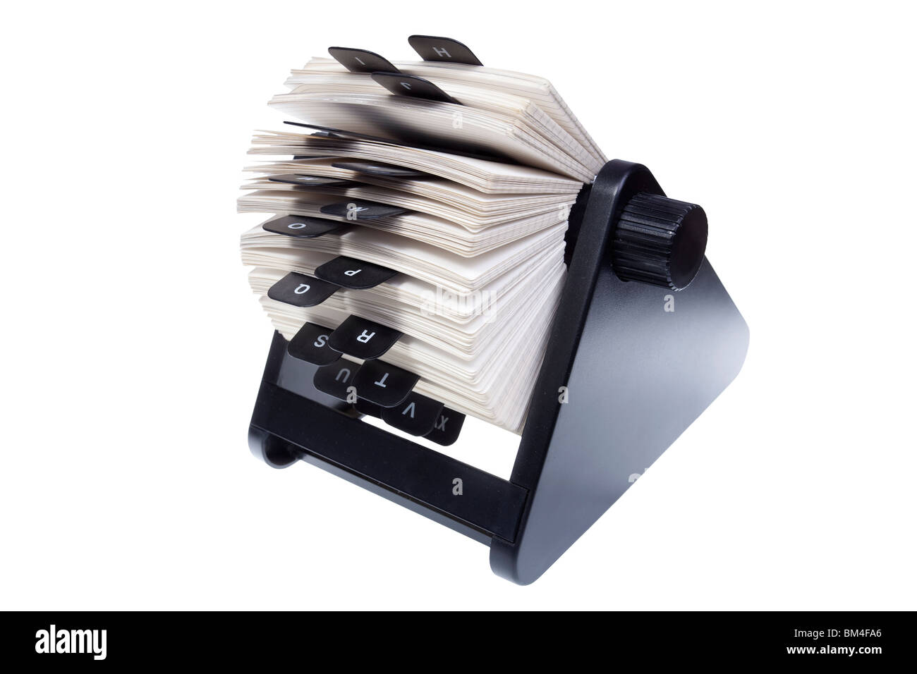 rotary card file for storing contact information - Stock Image
