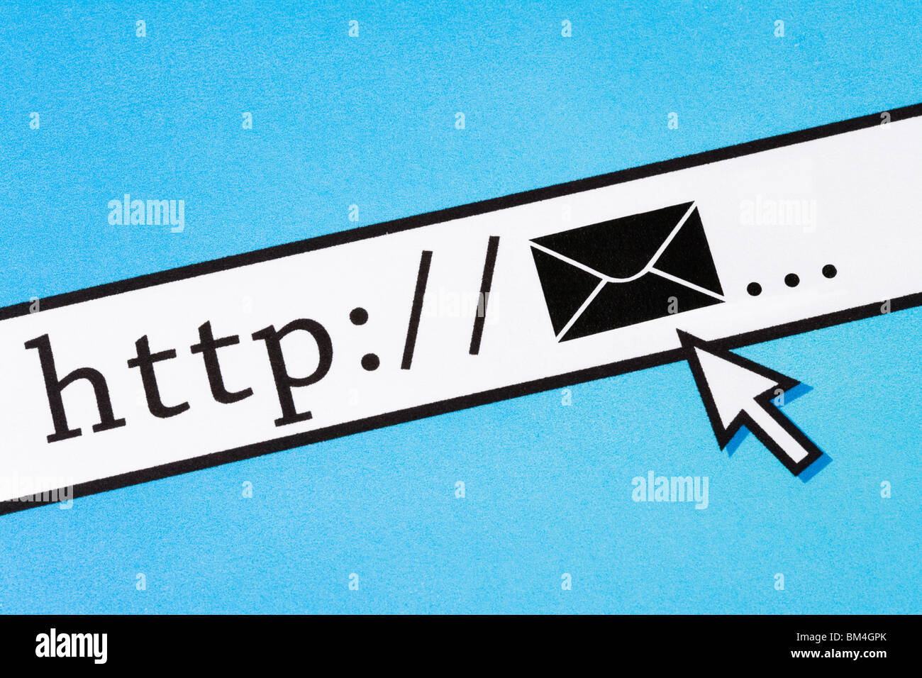 Computer Screen, concept of email - Stock Image