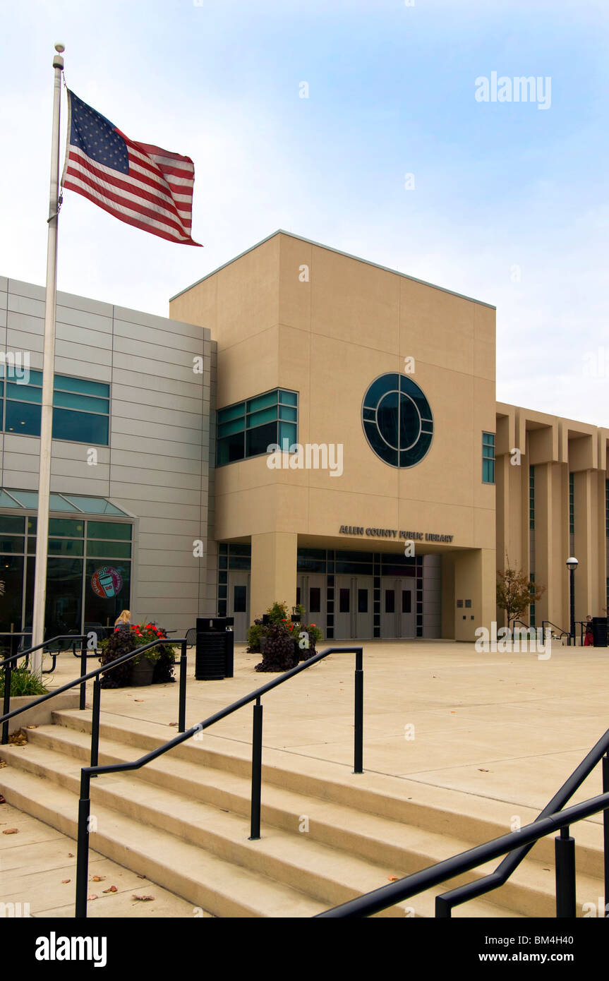 Allen County Public Library in Fort Wayne, Indiana - Stock Image