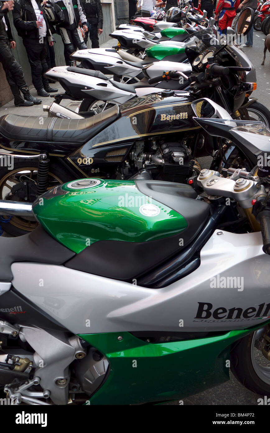 Benelli Motorbikes - Stock Image
