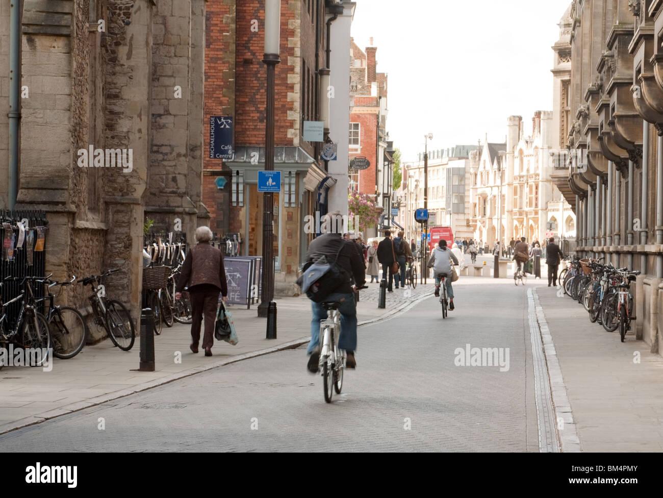 Street scene, Trinity Street, Cambridge UK - Stock Image