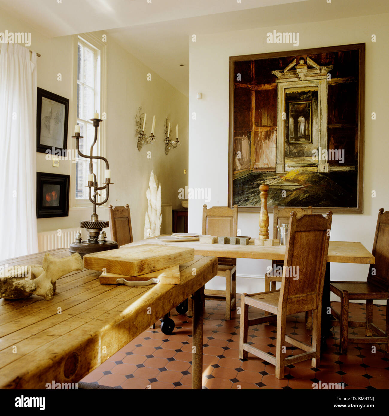Kitchen Dining Area In London Edwardian Family Home With Interior
