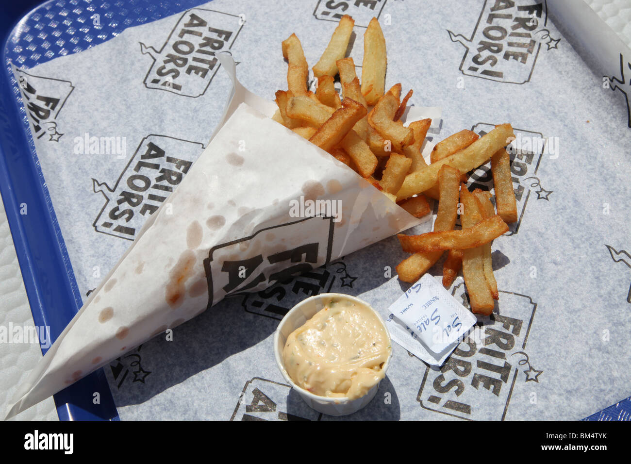 fast food French Fries - Stock Image