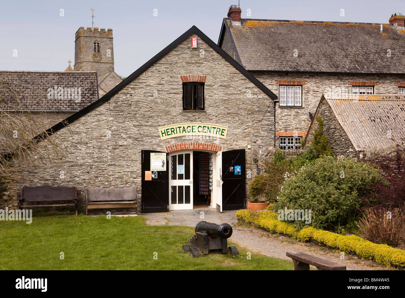 UK, England, Devon, Woolacombe, Mortehoe, Heritage Centre in former barn building - Stock Image