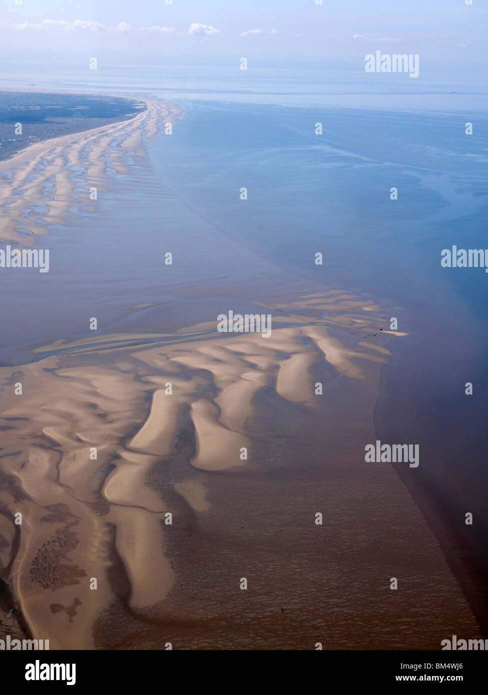 Southport and Formby, Sands and Beach, North West England - Stock Image