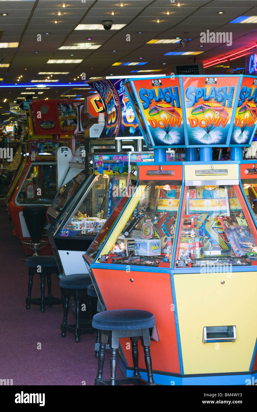 seaside traditional arcade games - Stock Image