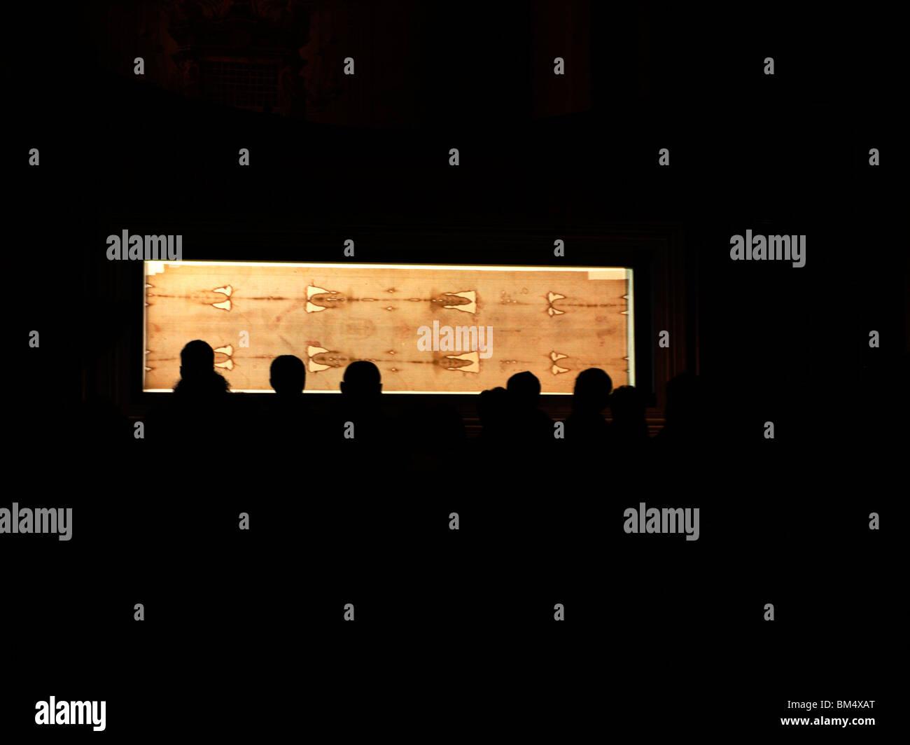 Turin, holy shroud - Stock Image