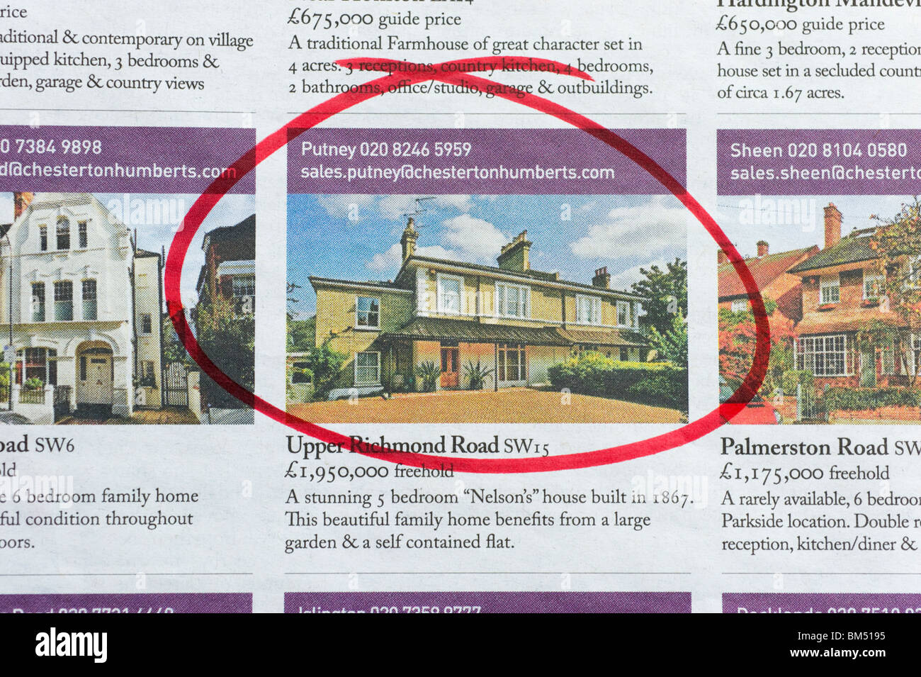 Enjoyable Houses For Sale Ads Circled In Newspaper London England Interior Design Ideas Clesiryabchikinfo