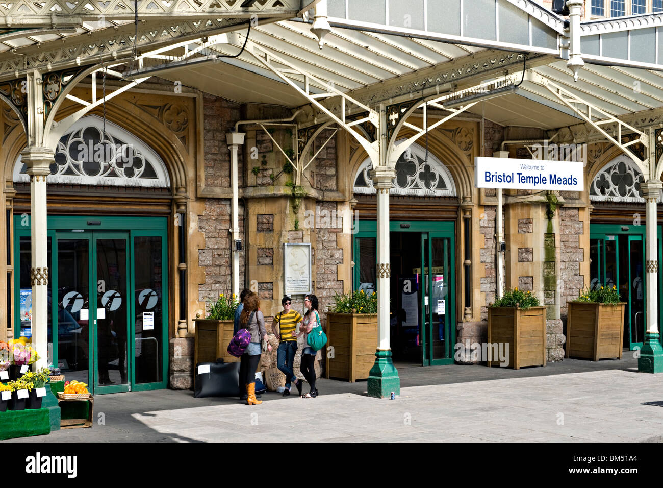 Bristol Temple Meads Railway Station Stock Photo