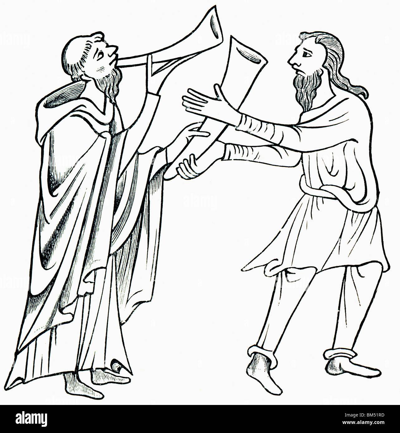 The Legend of Saint Patrick's Horn. - Stock Image