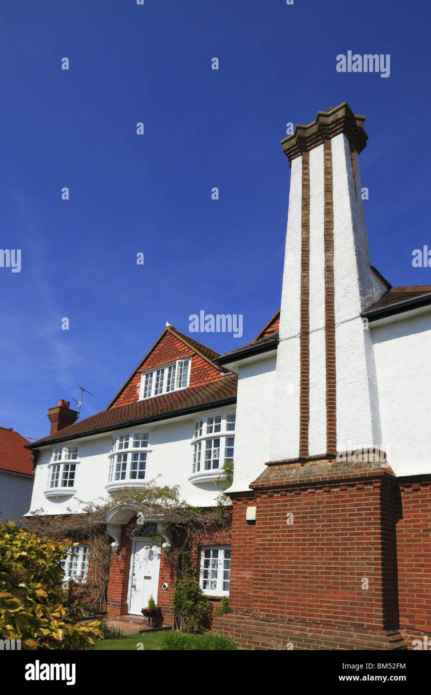 A substantial period property in Eastbourne's Saffrons district. - Stock Image