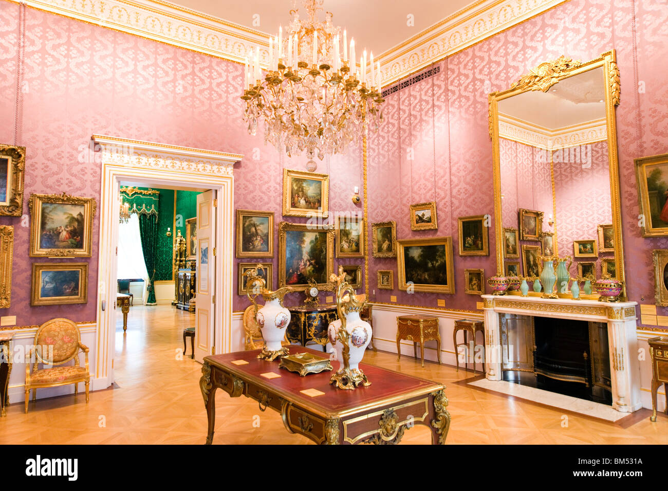 an opulent room in the wallace collection london england uk