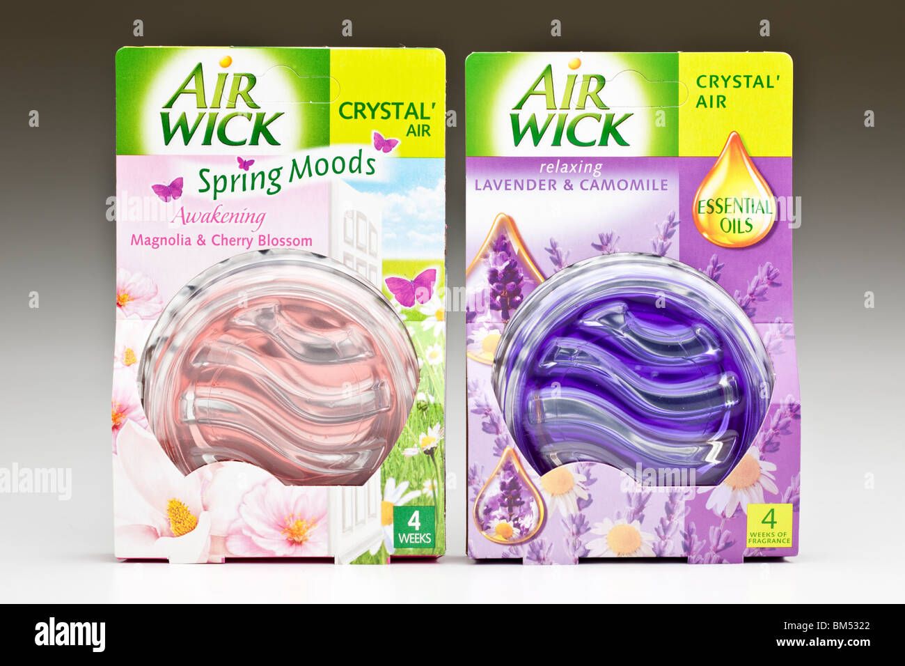Two packed Airwick crystal airs - Stock Image