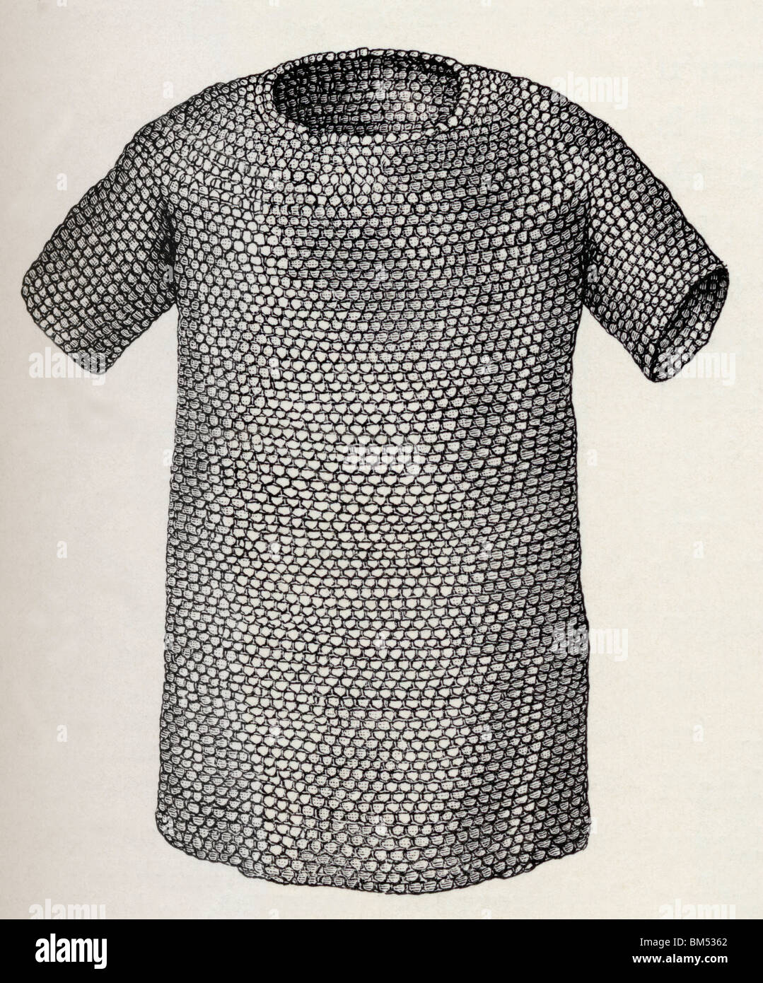 Jutish or Danish Mailcoat dating from before A.D. 450. - Stock Image